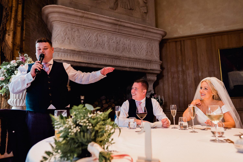 bestman making a wedding speech